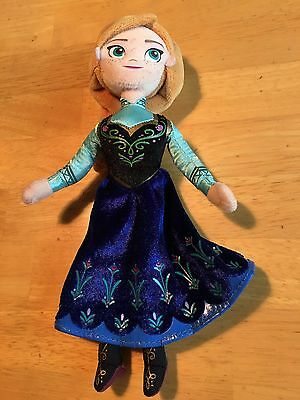 DISNEY FROZEN ANNA 9 Inch Plush Stuffed Doll Toy Authentic
