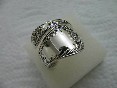 Antique c.1901 Gorham Sterling Silver spoon RING s 9 MARGUERITE #5525 Jewelry