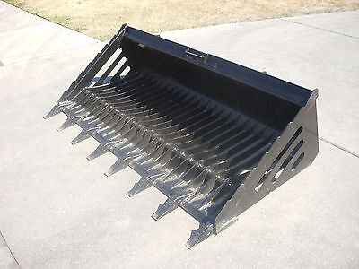 "Bobcat Skid Steer Attachment - HD 80"" Rock Bucket with Teeth - Ship $149"