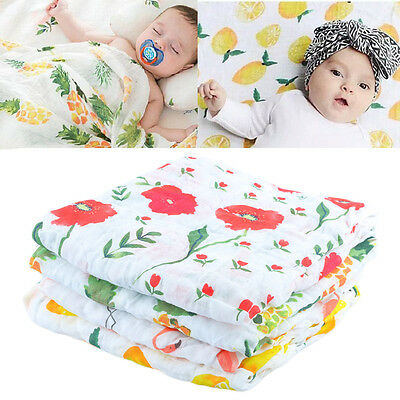 Baby swaddle cute muslin blanket Baby Multi-use bamboo Blanket Infant Wrap