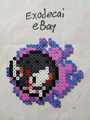 Gastly Pokemon Bead Sprite Perler Art Menu Icon