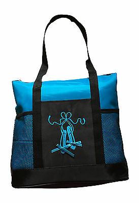 Girls Dance Tote Bag Ballet Slippers Large Turquoise