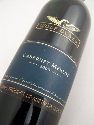2000 WOLF BLASS Blue Label Cabernet Merlot Isle of Wine
