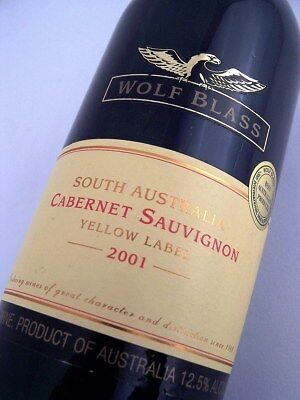 2001 WOLF BLASS Yellow Label Cabernet Sauvignon Isle of Wine