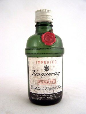 Miniature circa 1973 TANQUERAY ENGLISH GIN Isle of Wine