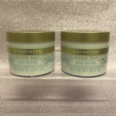 2 x Champneys Blissful Bump Body Butter Large 300ml Pregnancy Stretchmarks