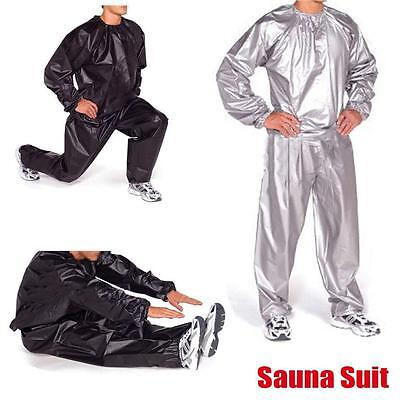 Heavy Duty Sweat Sauna Suit Gym Fitness Exercise Fat Burn Weight Loss NM