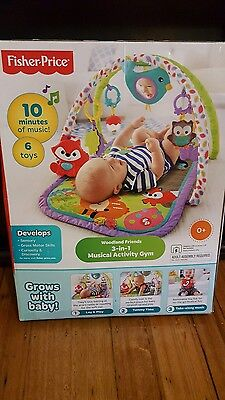 Brand new in box  FISHER PRICE BABY musical  activity play gym