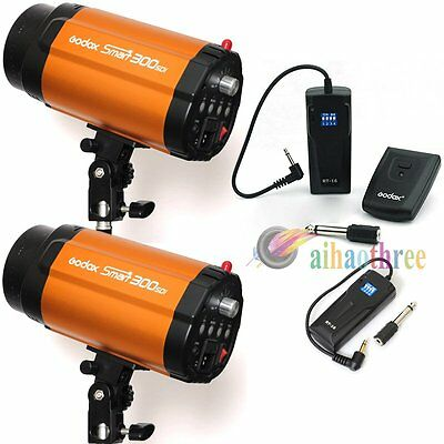 2Pcs Godox Smart 300SDI 300W Studio Flash Head Strobe Light + RT-16 Trigger