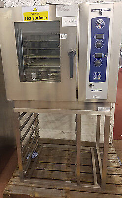 BlueSeal Gas Combination oven 6 Grid natural gas on stand (REF-1617/421)