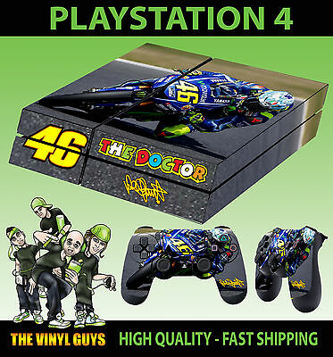 PS4 Skin Valentino Rossi 46 The Doctor Yamaha Sticker + Pad decals Vinyl LAID