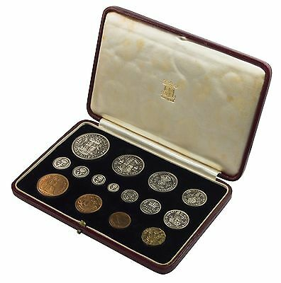 1937 Royal Mint Proof Set - 15 Coins - King George Vi Coronation