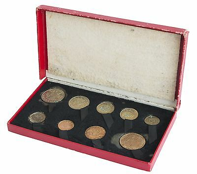 1950 ROYAL MINT King George VI PROOF SET in original box coins