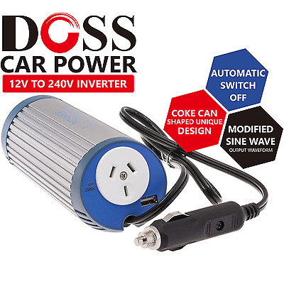 Car Power Inverter Outlet Adapter DC to AC 12V to 240V Converter Vehicle Charger