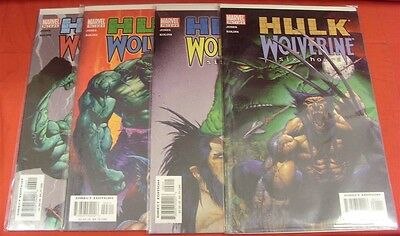 Hulk Wolverine Six Hours 1-4 Mavel Comic Set Complete Bruce Jones Kolins 2003 Nm