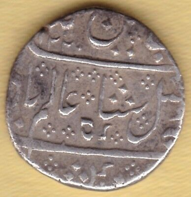 French India Ah1220 Silver One Rupee Arkat Mint #d18