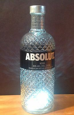 Absolut Vodka Limited Edition GLIMMER w/LED And Tag 750ml