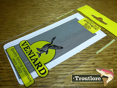 Veniard Grey Synthetic Quills - New Fly Tying Quill Body Material