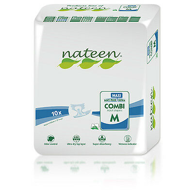 40 Medium Tendercare-Nateen Night Maxi Adult Incontinence Nappies.