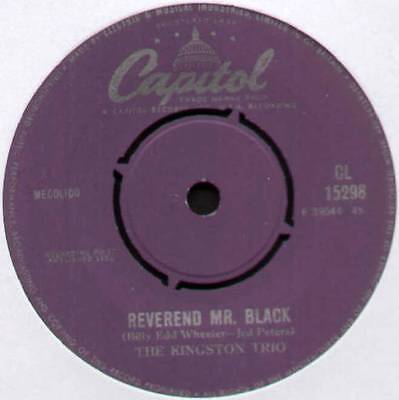 "[John Stewart] Kingston Trio ~ Reverend Mr. Black ~ 1963 Uk 7"" Single"