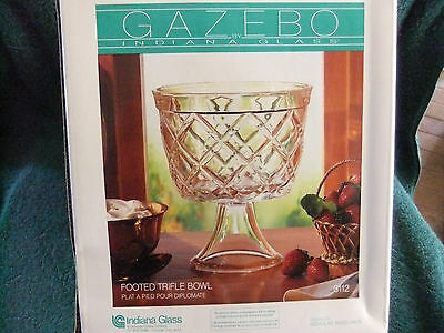 Indiana Glass  Footed Trifle Bowl In Original Box