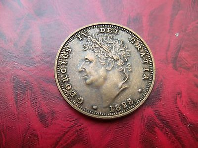 SMALL MEDALLION 2.2 cms of GEORGIUS IV 1828 ( other side is plain )