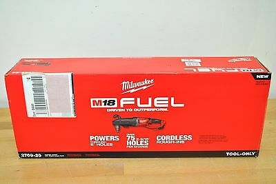 """Milwaukee M18 Fuel 18V SUPER HAWG 1/2"""" Right Angle Drill 2709-20 New Tool Only"""