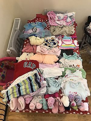 Huge Lot Of Baby Girls Clothes 0-4Y Inc Swimsuit Gro Sleeping Bag Gap Next M&S