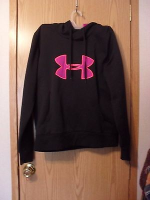 EUC!!  Girls Under Armour Lrg cold-gear semi-fitted hoodie L@@K!!
