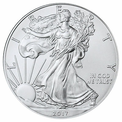 2017 1 Troy oz. BU American Silver Eagle Coin In Airtite Holder