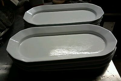 A52 Lot Of 8 Bon Chef Sprig Platters White 9111-N Serving, Catering, Parties