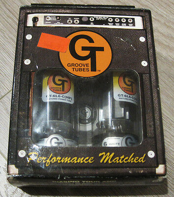 Groove Tubes GT-6L6-C (HP) Matched Power Vacuum Tube Tubes Pair