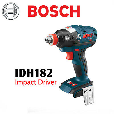 """BOSCH IDH182B 18V EC Brushless Impact with 1/4"""" Hex and 1/2"""" Square Drive"""
