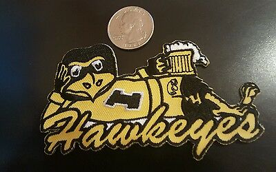 """Iowa Hawkeyes vintage iron on embroidered patch 4"""" x 2"""" Ncaa"""