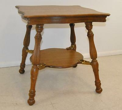 Early 1900's Quarter Sawn Oak Lamp / Parlor Table
