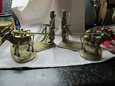 Antique/vintage brass Chinese brass incense burners...unusual.
