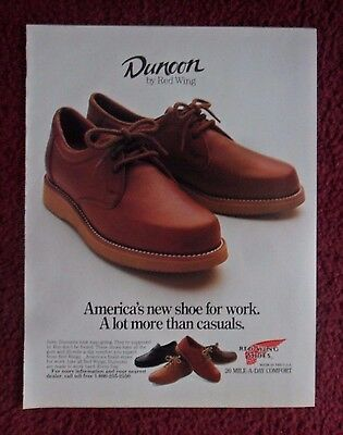 1987 Print Ad Red Wing Dunoon Shoes Leather Boots ~ A lot more than Casuals