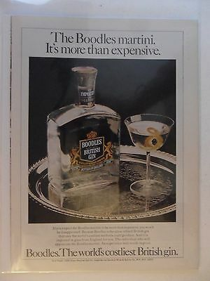 1978 Print Ad Boodles British Gin ~ Martini: More Than Expensive