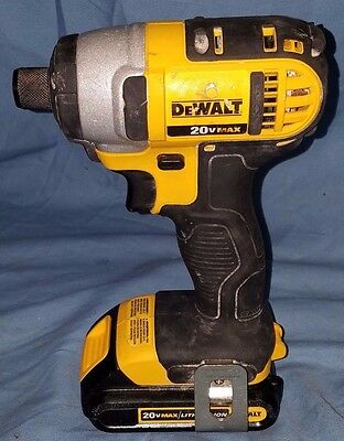 DEWALT Impact Driver DCF885 20V MAX Li-Ion 1/4 in. and 1.3 AH 20V BATTERY