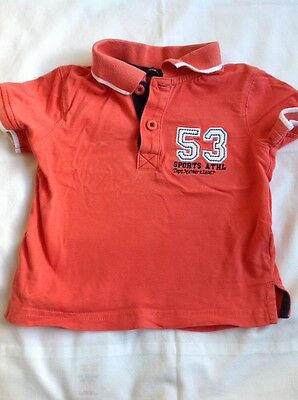 Baby Boys Polo Shirt 9-12 months Top clothes Tshirt Top