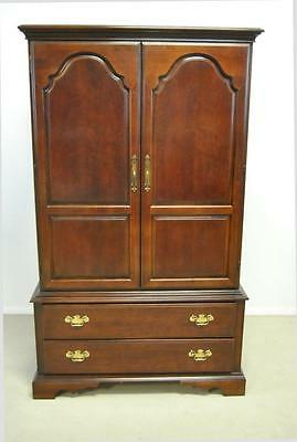 Chippendale Cherry Entertainment Armoire By Bernhardt