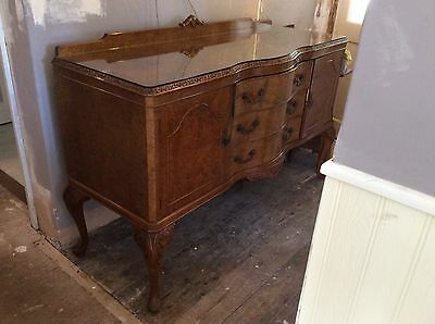 Queen Anne  Style Burr Walnut Sideboard - Free local delivery