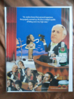 1997 Print Ad Tanqueray Gin ~ Mr. Jenkins watching the DIVA at the OPERA