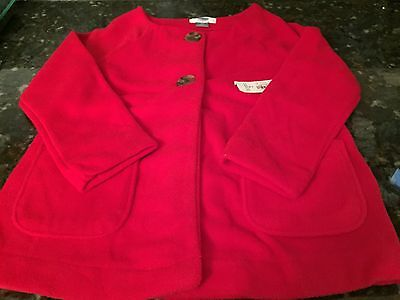 OLD NAVY Toddler Girl RED FLEECE Button Up Jacket Size 4T NWT