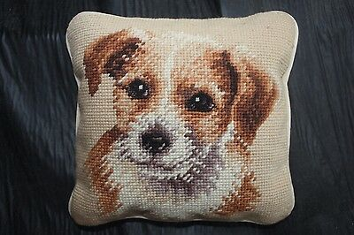 Jack Russell Terrier Puppy Needlepoint Puppy Pillow