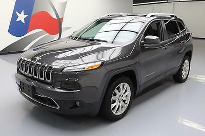 2014 Jeep Cherokee Limited Sport Utility 4-Door 2014 JEEP CHEROKEE LIMITED PANO SUNROOF HTD LEATHER 27K #237961 Texas Direct