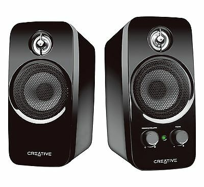 Creative Inspire T10 2.0 Multimedia Speaker System with BasXPort Technology New