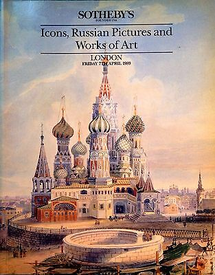 Sotheby's ICONS, RUSSIAN PICTURES and WORKS OF ART, Paintings London Sale 1989
