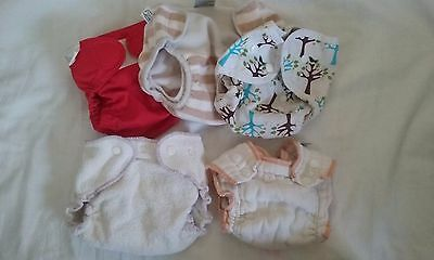 3 diaper covers, 2 fitted diapers size small