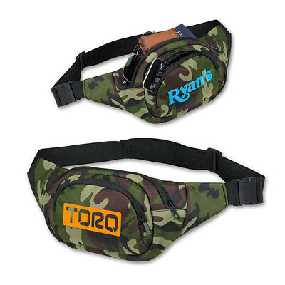 CAMOUFLAGE FANNY PACKS - 50 quantity - Custom Printed with Your Logo